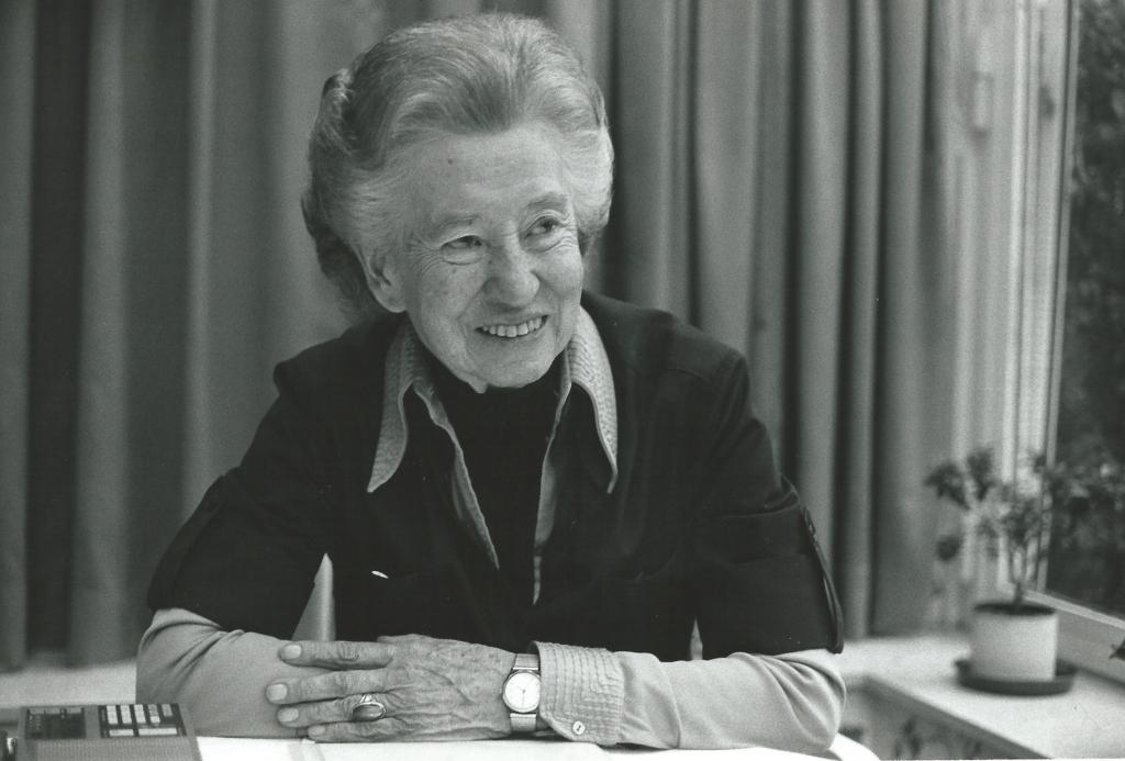 Elisabeth Schwarzhaupt 1985. Foto: Barbara Klemm